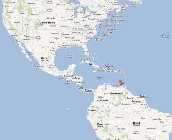Lage der Isla Margarita